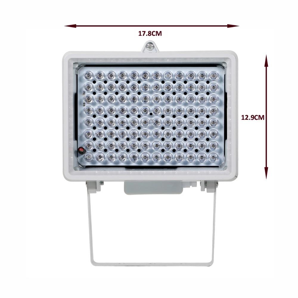 AZISHN CCTV LED CCTV 96 pièces LED IR CCTV Remplir Lumière lampe infrarouge d'illuminateur IP66 850nm Vision Nocturne Étanche pour caméra DE VIDÉOSURVEILLANCE - 5