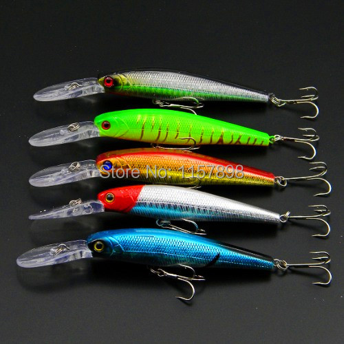 Deep Minnow Fishing lures 12.5CM/14G/4# Hooks fishing artificial fish plastic hard lure pesca wobbler tackle Free shipping 1ps minnow fishing lures deep isca artificial wobbler crankbait for fish lure hard fake bait pesca tackle hooks sea 14 5cm 12 7g