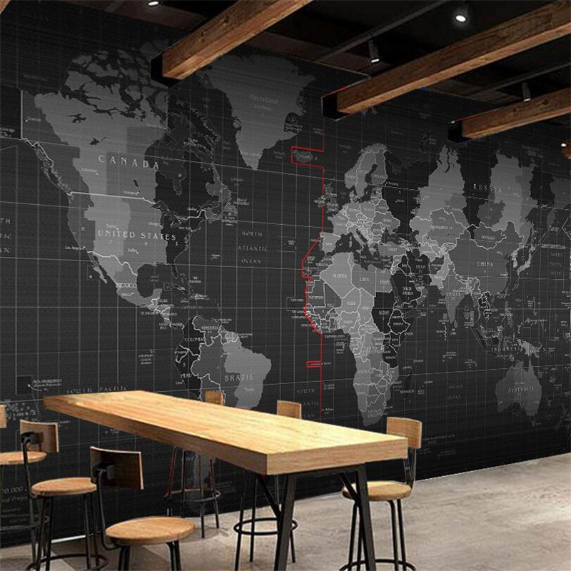 beibehang Custom wallpaper 3d photo mural personality technology world map mural background wall living room bedroom wallpaper in Wallpapers from Home Improvement