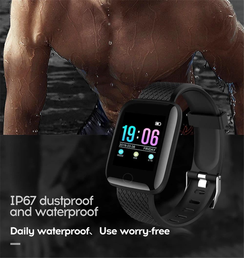 13-130435- Smart Watch Men Blood Pressure Waterproof Smartwatch Women Heart Rate Monitor Fitness Tracker Watch GPS Sport For Android IOS
