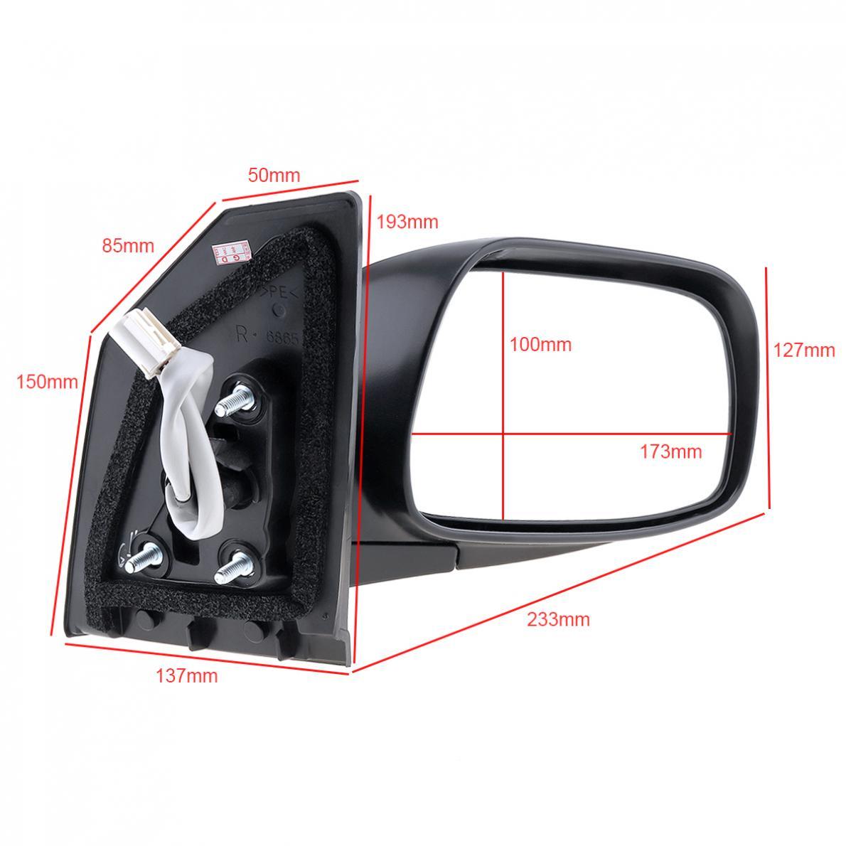 Non-Folding 1Piece Car Right Side Mirror Auto Right Hand RH Mirror for 2003-2008 Toyota Corolla CE/LE/S/Sport/XRS Sedan 4-Door right page 4
