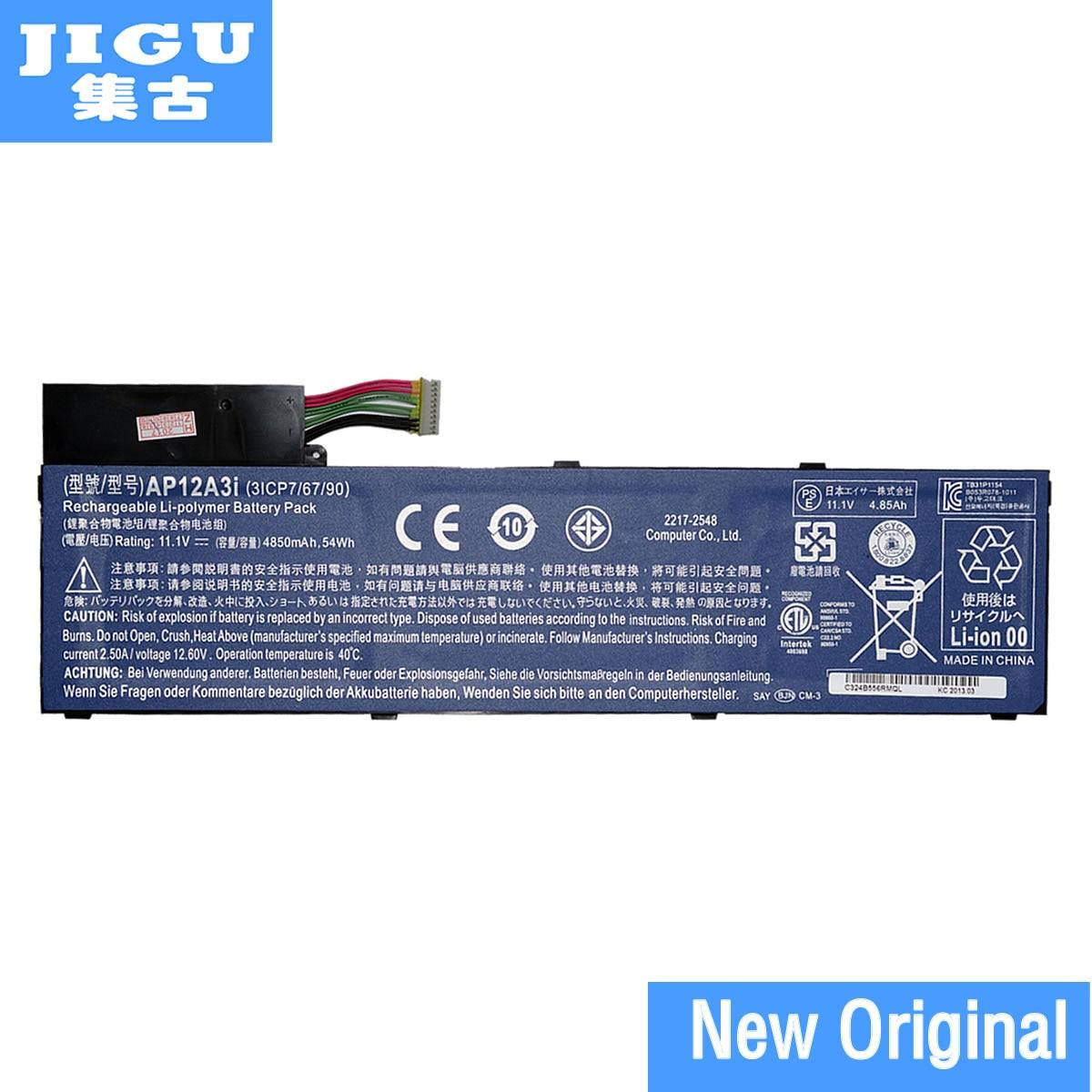 JIGU AP12A3I Batterie D'ordinateur Portable D'origine Pour ACER Aspire Timeline Ultra M3 M5 M3-581 M5-481 M5-581 AP12A4i M3-581TG