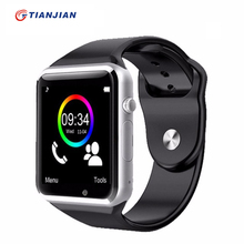 A1 smartwatch smart watch con cámara podómetro sleep tracker mp3 respuesta de Llamada Bluetooth Para Android iOS PK DZ09 U8 GT08 GV18