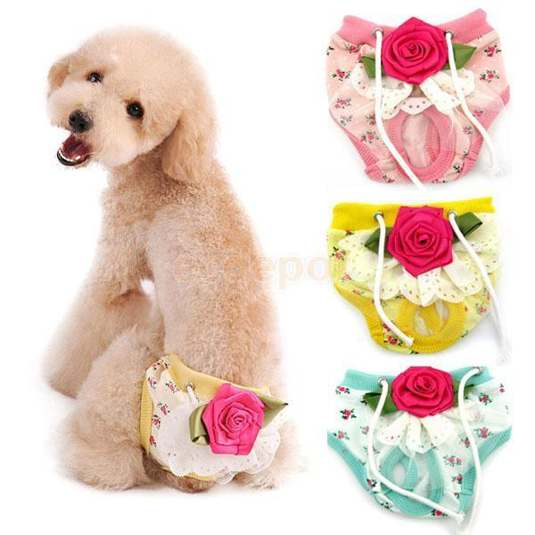 Small Pet Dog Puppy Female Sanitary Period Clothes Physiological