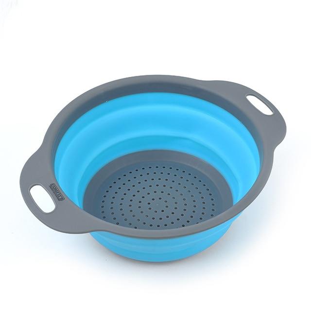 2 Unid de silicona de drenaje cesta herramienta de cocina fregadero de drenaje Rack cubiertos estanterías tratamiento de frutas y verduras cesta cubierta KC1533