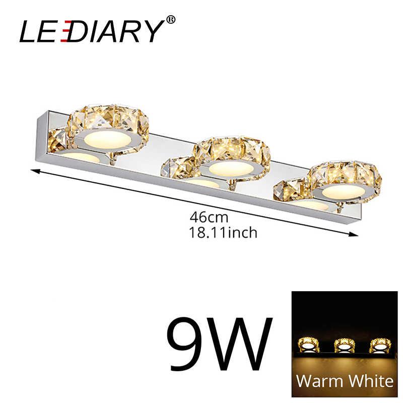 Светодиодный IARY круглый кристалл зеркало лампы 3 W/6 W/9 W/12 Вт Шампань/белый Водонепроницаемый светодиодный настенный светильник 100-240 V Ванная комната лампа Нержавеющаясталь