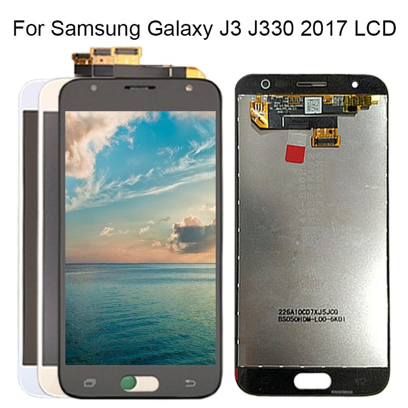 Super AMOLED LCDS para Samsung Galaxy J3 2017 J330 pantalla LCD J330F digitalizador de pantalla táctil asamblea para SAMSUNG J330 LCD