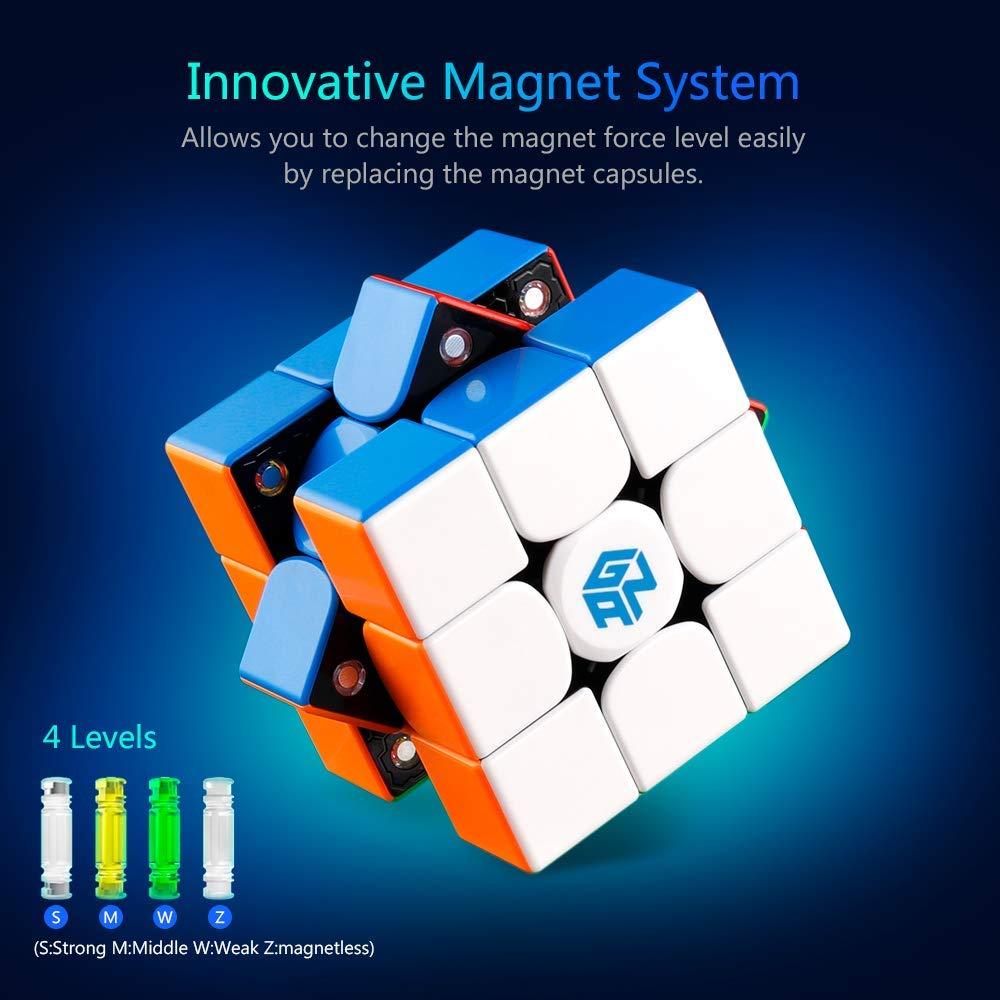 D-FantiX Gan 356 x Vitesse Cube Gan 356x Magnétique Cube 3x3x3 Magique puzzle de cubes Professionnel 3x3 Jouets (IPG V5 Version) - 2