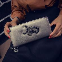 Бумажник Женский Длинный кошелек на молнии Сумочка New Женщины мобильный телефон BaoChao деньги кошелек