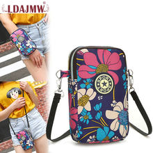Summer Leisure Fashion Nylon Handbags Waterproof Removable Straps Arm Package Women's Single Shoulder bag Mobile Phone Key Bags(China)