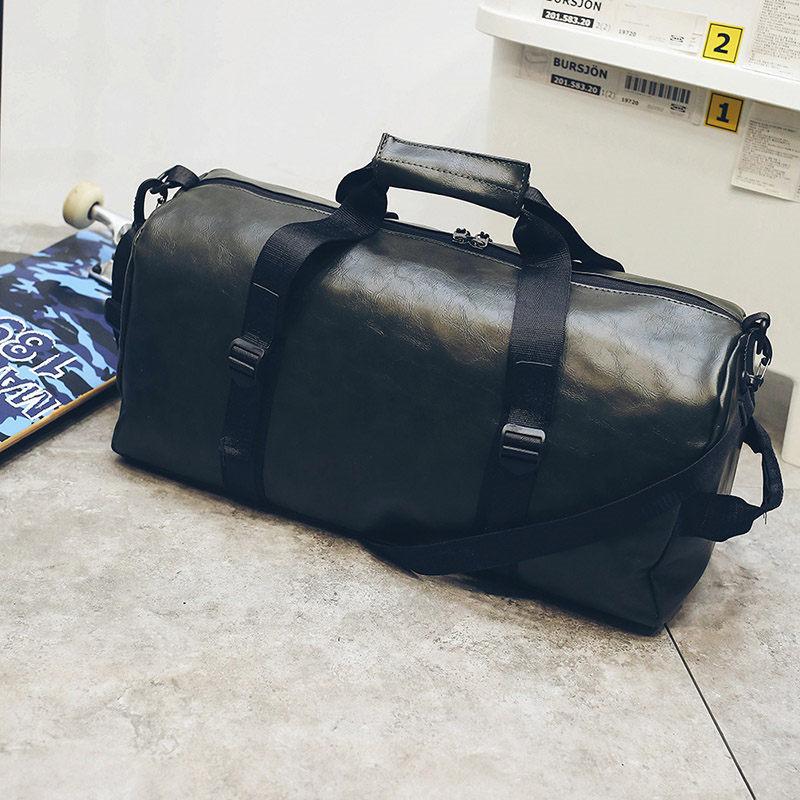 2018 New Soft Shoulder Bag Ladies Black Travel Bag Handbag Womens Handbag Ladies Weekend Waterproof Portable Wash Bag