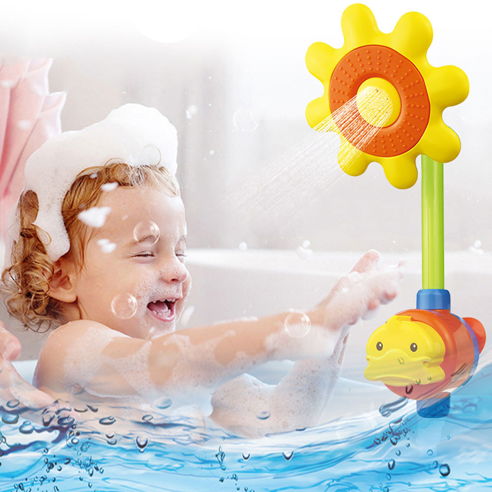 popular newborn shower tub buy cheap newborn shower tub lots from hot selling children newborn toddler baby toys sunflower spray bath toy kids children baby shower bathing