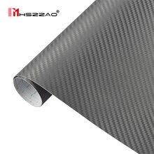 30cm127cm 3D Carbon Fiber Vinyl Film 3M Car Stickers Waterproof DIY Motorcycle Automobiles Car Styling Wrap Roll Accessories цена 2017