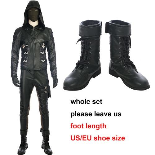 Green Arrow season 5 Prometheus cosplay costume Halloween costumes for men Adrian Chase Prometheus Arrow costume custom made