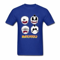 Rick And Morty T Shirts Mens Meeseeks KISS Men Short Sleeve T Shirts Crewneck Custom Family