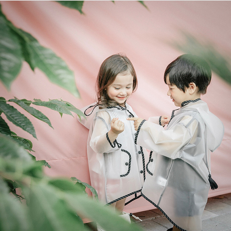 Cute Small Waterproof Polyester Rain Coat Boy Children Girls Windproof Poncho Kindergarten Student Baby Raincoat for children in Raincoats from Home Garden