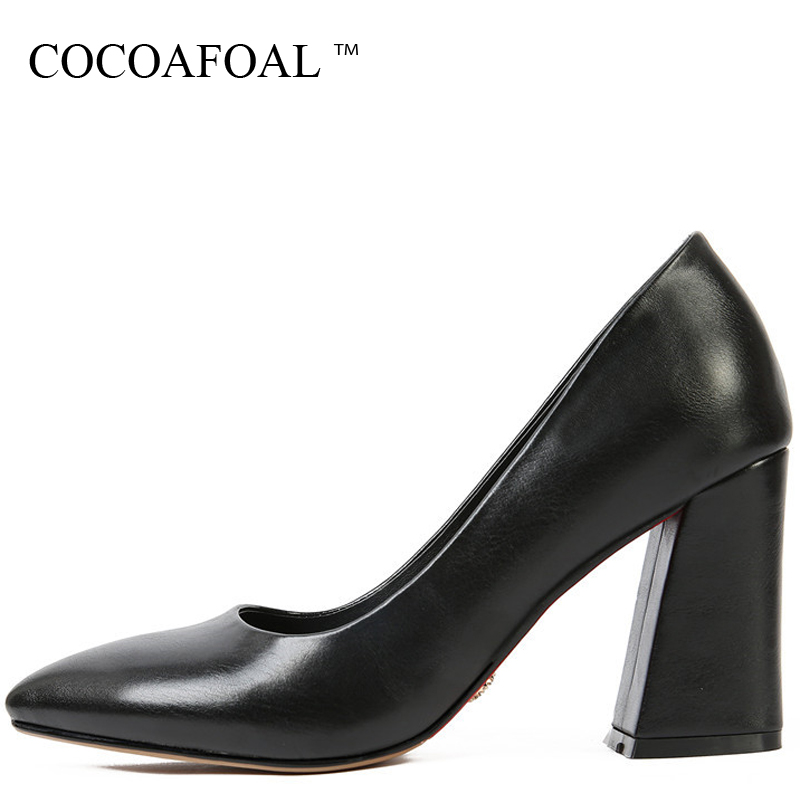 COCOAFOAL Woman Pointed Toe Pumps Stiletto Sexy Wedding Pumps Spring Gray Black Plus Size 32 33 43 47 High Heels Shoes 2018 cocoafoal woman green high heels shoes plus size 33 43 sexy stiletto red wedding shoes genuine leather pointed toe pumps 2018