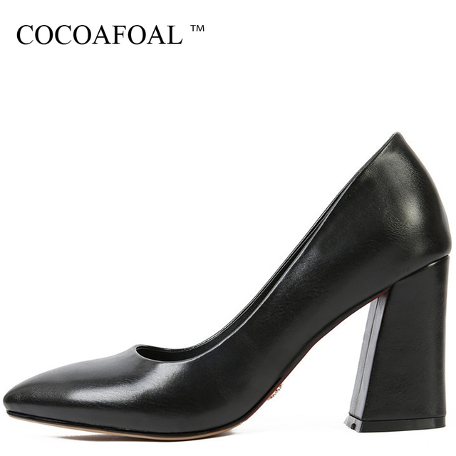 COCOAFOAL Woman Pointed Toe Pumps Stiletto Sexy Wedding Pumps Spring Gray  Black Plus Size 32 33 43 47 High Heels Shoes 2018 5ef091301ddc