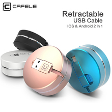 CAFELE 2 in 1 retractable USB charging Cable 8 pin Cable For iPhone 7 6 6s