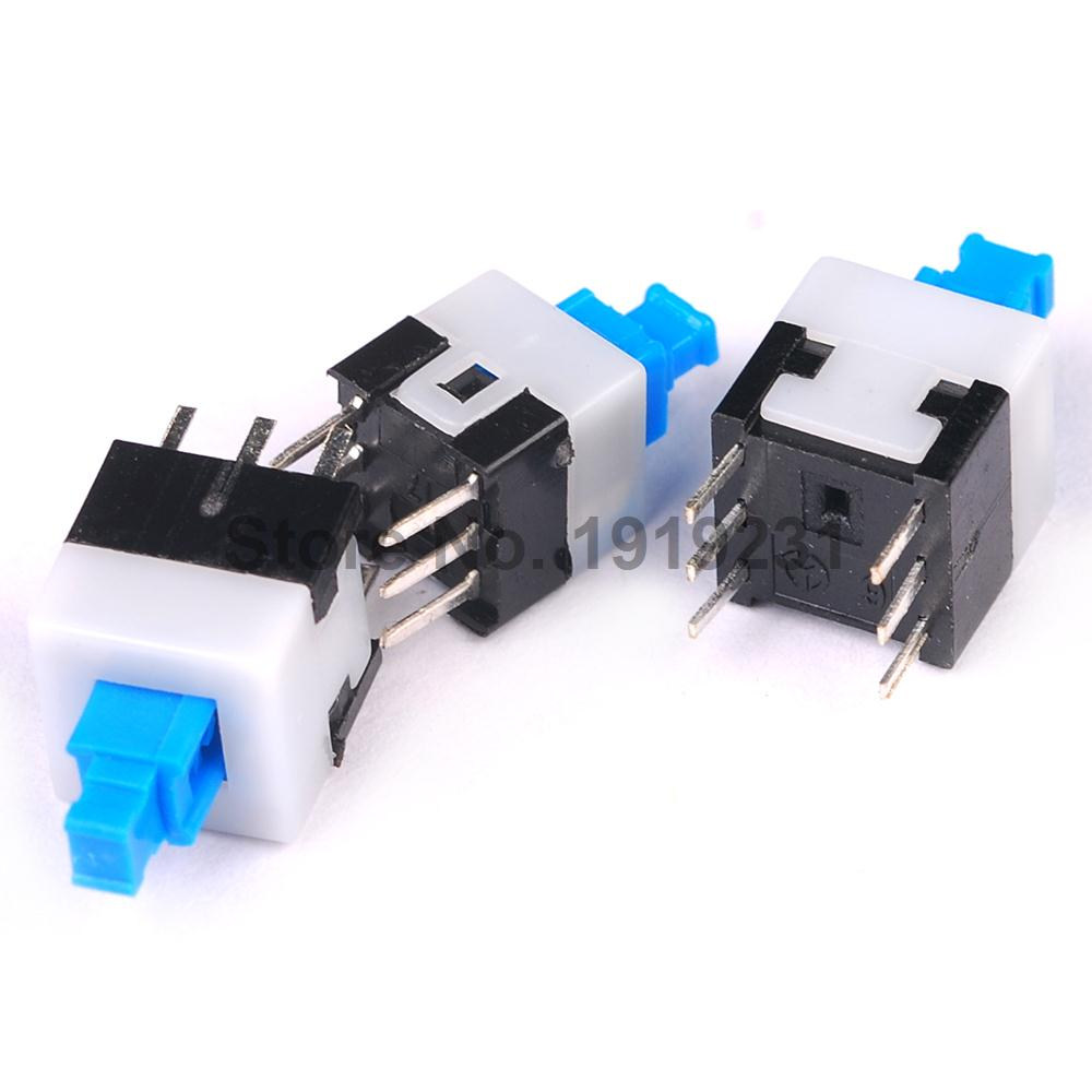 20PCS 7*7mm Micro Swith Switches Press On/Off Self Lock 6PIN