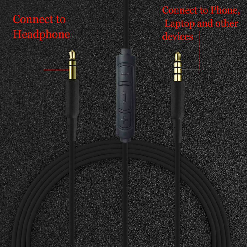 JINSERTA 3.5mm Earphone Audio Cable Replacement Headphone Wire ...