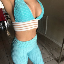 2-piece Women Spring and Autumn Suit Pants Bras Fitness Sets Quick-drying Female Causal Outfit women top pants Fashion 2019