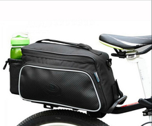 ROSWHEEL 10L Cycling Bike Carbon Fiber Leather Bicycle Rear Rack Seat Pannier Bag Pouch Mountain to the rear of the package