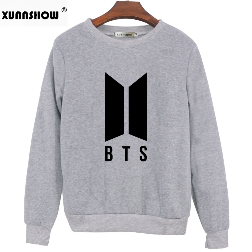 XUANSHOW 2018 Autumn Winter Sweatshirt Clothes BTS Bangtan Boys Kpop Love Yourself Answer Letters Printed Pullover Tops Moletom  3