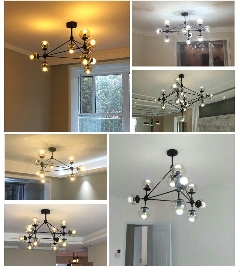 Design italiano globo lustre de iluminação sala
