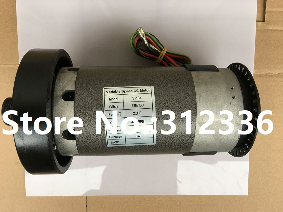 Fast Shipping 2HP 2.0HP 180V DC motor B=45mm or 65mm suit for treadmill model Universal motor SHUA Brother OMA Family storage cable