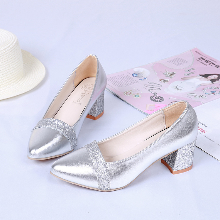 2017 spring and autumn new with a single shoe pointed shallow mouth fight high heels with work shoes female 2016 new pumps spring autumn period and the new fine work with shallow mouth single shoe heels sweet bowknot sexy pointed shoes