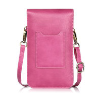 New Universal PU Leather Phone Bag Shoulder Pocket Wallet Pouch Case Neck Strap For IPhone 6plus