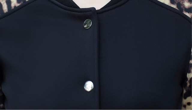 2017 Flower Print Plus big Size Baseball short Jacket Women Round Collar Button Thin Bomber Jackets Long Sleeves girl Coat basic 3