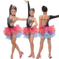 Девушка Костюмы для латиноамериканских танцев платье для танцев Румба Самба Костюмы Обувь для девочек Salsa Платья для женщин Обувь для девоч...
