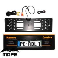 Nieuwe Europa 170 graden view auto nummerplaat frame Universal Auto Reverse Achteruitrijcamera Backup Camera 4 LED