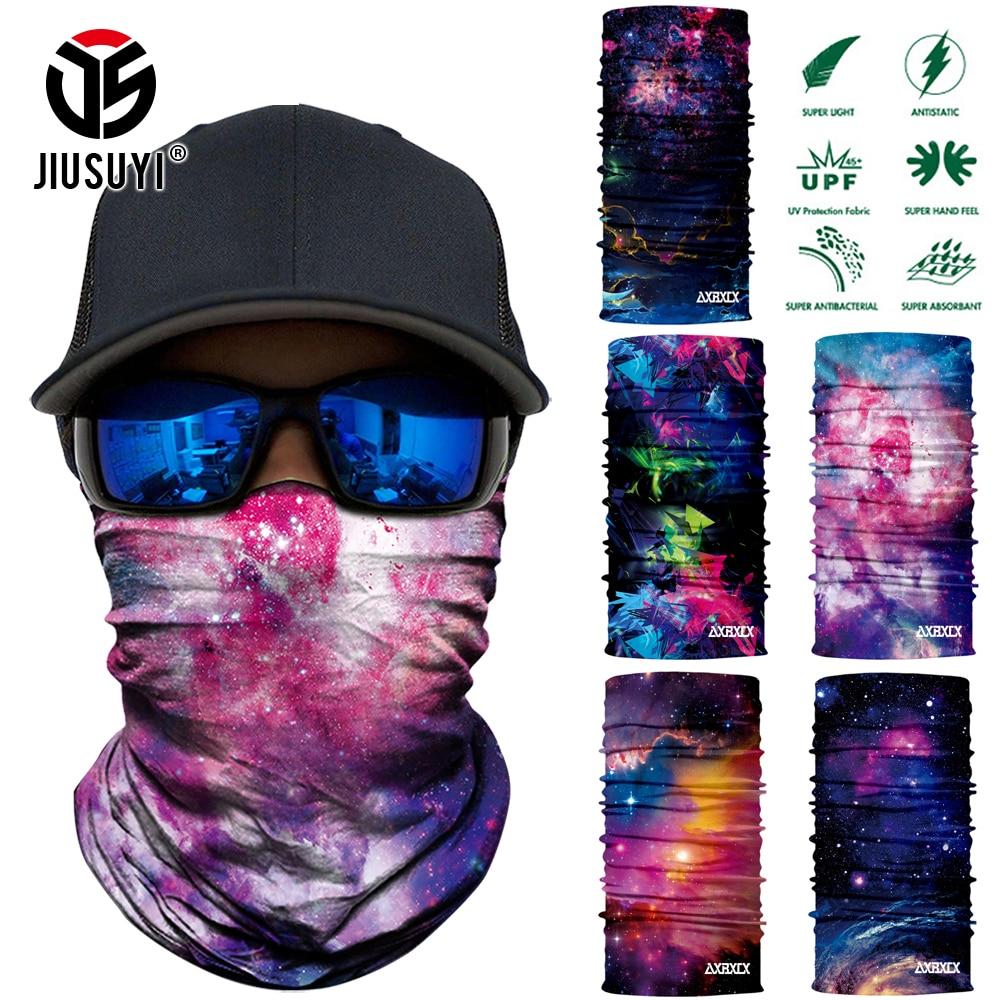 3D Seamless Universe Galaxy Balaclava Magic Face Mask Warmer Ski Neck Scarf Shield Anti-UV Men Biker Colorful SunTube Bandana