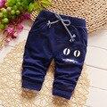 Primavera 2016 nova Lovely Fashion Boy Calças Recém-nascidos Do Bebê Calças de Menino de Algodão das Crianças Calças Do Bebê Roupas de Outono 7-24 M Frete Grátis