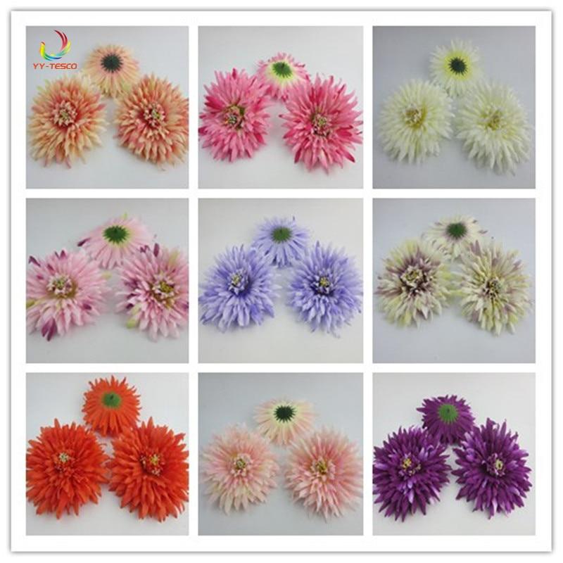 1000 pièces Mini marguerite fleur décorative artificielle soie Rose fleurs 12 cm fête mariage bricolage décoration décor à la maison sans tige