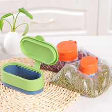 ФОТО / Multifunction Silicone Orange Food Kitchen Storage Preserve Sealing Bag Cap Magic Buckle Moistureproof Househould