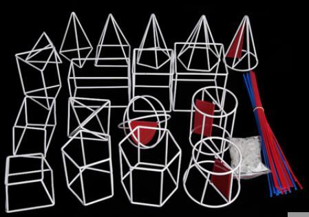 Lycée mathématiques solide géométrie modèle boîte étudiant solide géométrie cadre modèle 19 ensembles