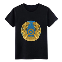 Для Мужчин's герб казахстанское пальто оружия флаг СССР футболка создать хлопок S-XXXL одноцветное солнечного света удобные летние натуральны...