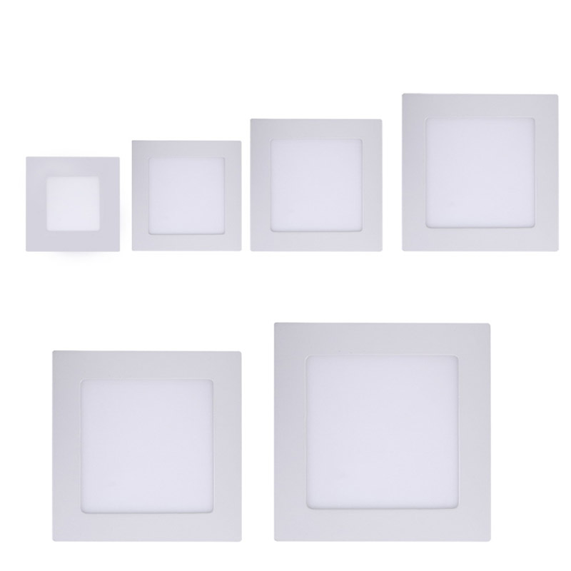 Dashing New Arrival Ac185-265v Ultra Thin Led Panel Downlight Square Anti-fogging Ceiling Recessed Panel Light Free Shipping Fuli Extremely Efficient In Preserving Heat Ceiling Lights & Fans Ceiling Lights