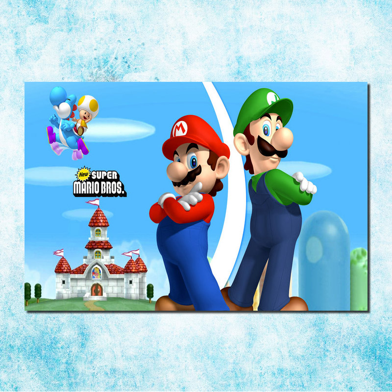 Super Smash Bros Mario Party Art Silk Canvas Poster Print 13x20 32x48 inches Games Pictures For Wall Decor (more)-1