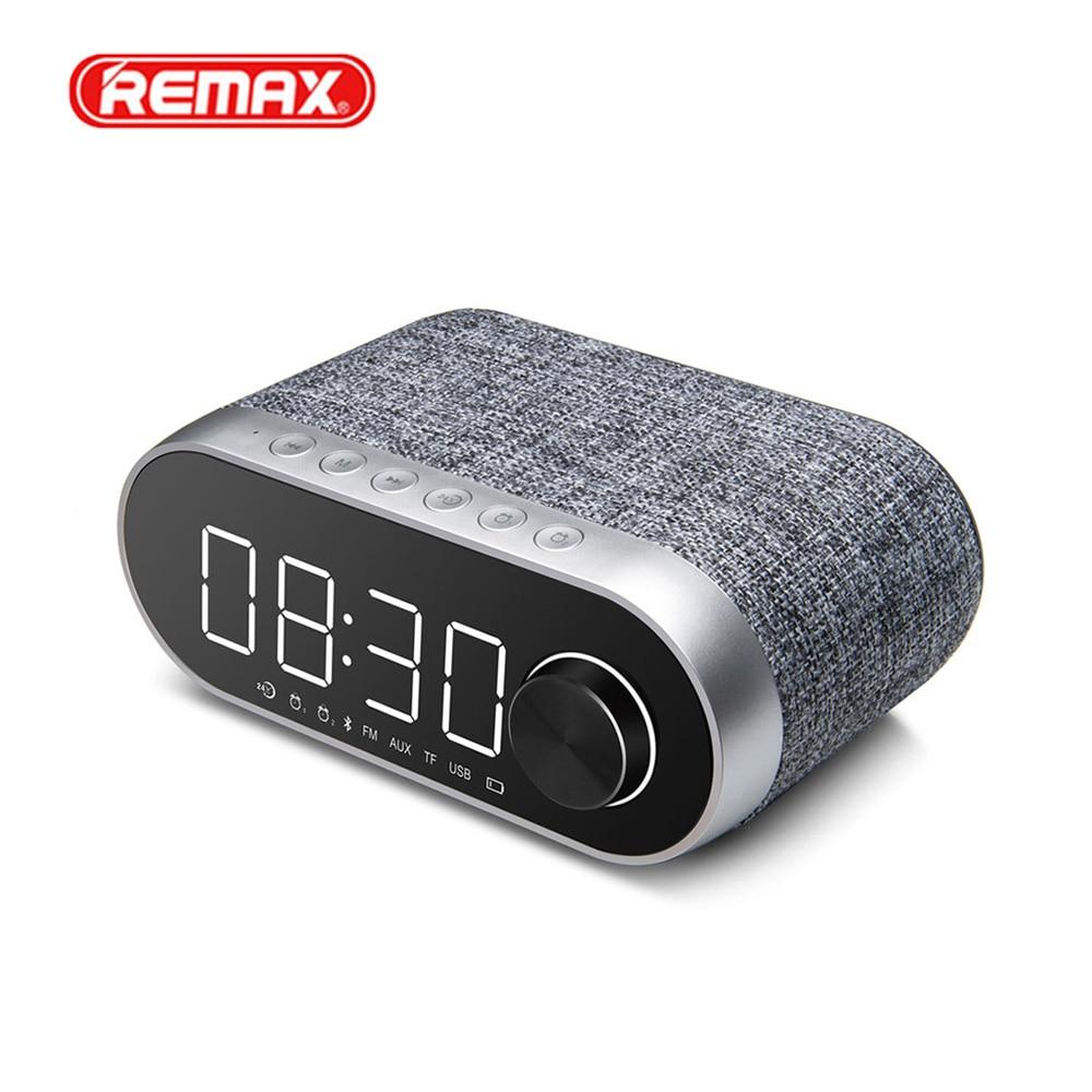 Remax RB-M26 FM Radio MultiFunctional Bluetooth Speakers Dual Alarm Clock Support TF Card USB Sound Card Player Portable Speaker ld752b wireless bluetooth speaker screen amplifier clock alarm fm radio
