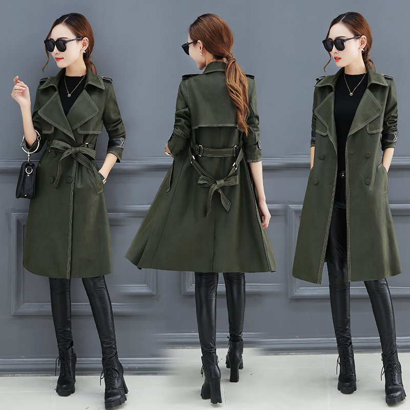 Windbreaker women in the long section of the Korean version of 2018 spring new casual slim autumn and winter coat