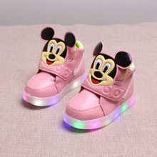 2017 autumn and winter new children's shoes LED children's light shoes boys and girls flash baby shoes lights sports shoes