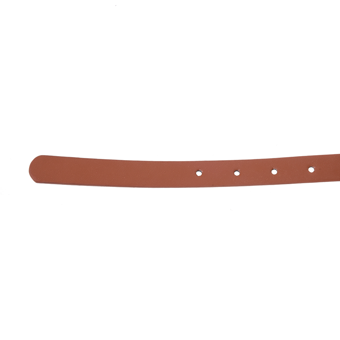 Girls Ladies Skinny Slim Narrow Belt Dress Belt - Tan