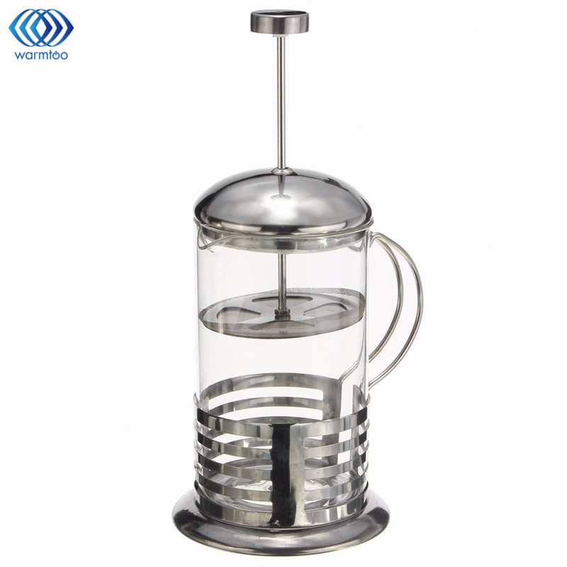 Manual Coffee Maker Pot Espresso Stainless Steel Glass Teapot Cafetiere French Coffee Tea Percolator Filter Press Plunger portable coffee maker manual coffee making machine coffee filter hand travelling french press pot 350 pcs metal filter paper