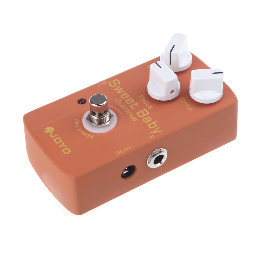 Electric Guitar Effect Pedal Adapt Various Styles Sweet Baby Low-Gain with Overdrive Effect Focus Knob Bass Guitar joyo jf 36 true bypass design sweet baby low gain overdrive electric guitar effect pedal with focus knob