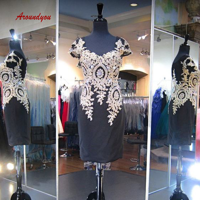 Sexy Black Short Lace   Cocktail     Dresses   Plus Size Little Formal Graduation Prom Party Homecoming   Dresses